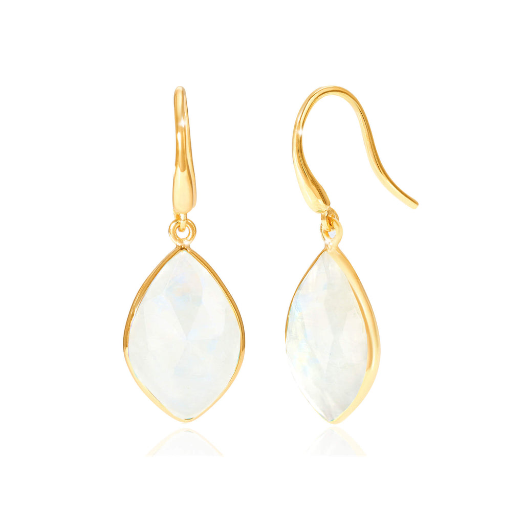Electric Skies Moonstone Drop Earrings
