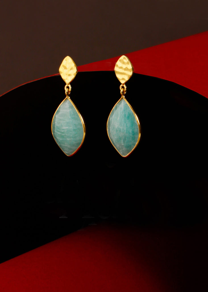Nuvole Amazonite Earrings - Auren Jewellery