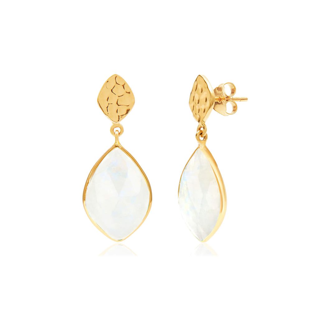 Nuvole Moonstone Earrings