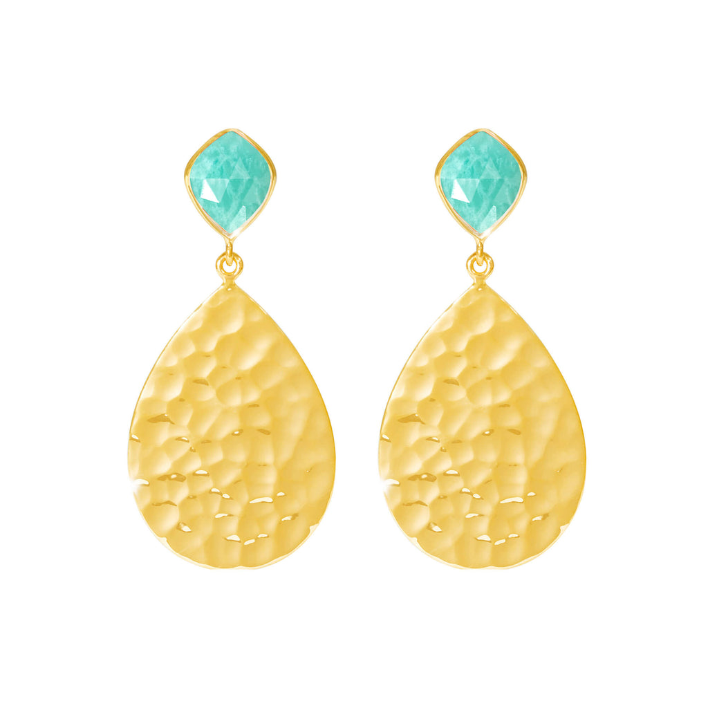 Sunset Amazonite Earrings - Auren Jewellery