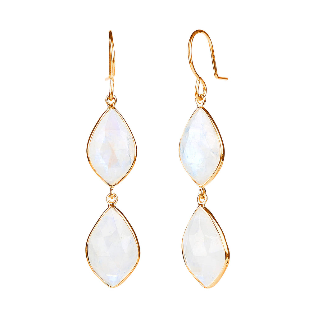 Electric Skies Moonstone Earrings
