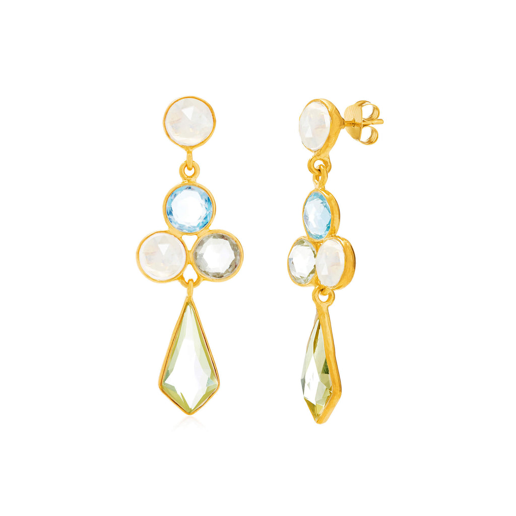 Rivoli Kite Gemstone Earrings