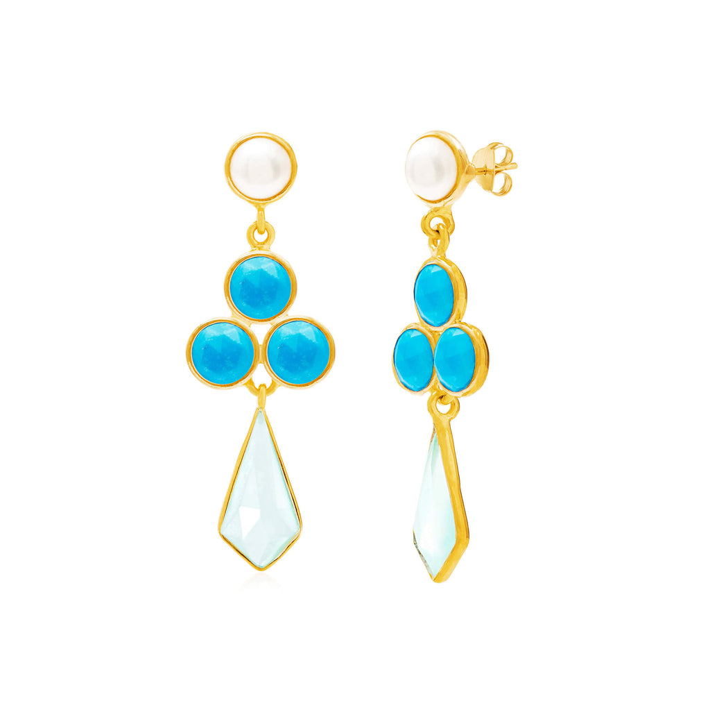 Rivoli Kite Gemstone Earrings - Auren Jewellery