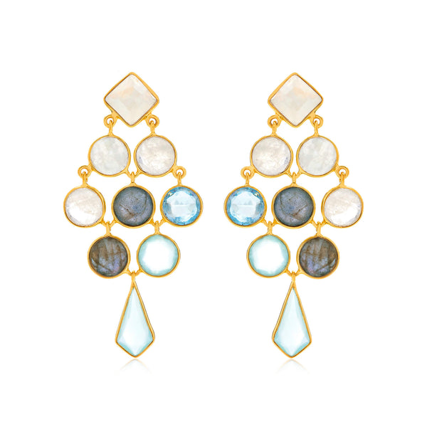Empire Gemstone Cocktail Earrings - Auren Jewellery