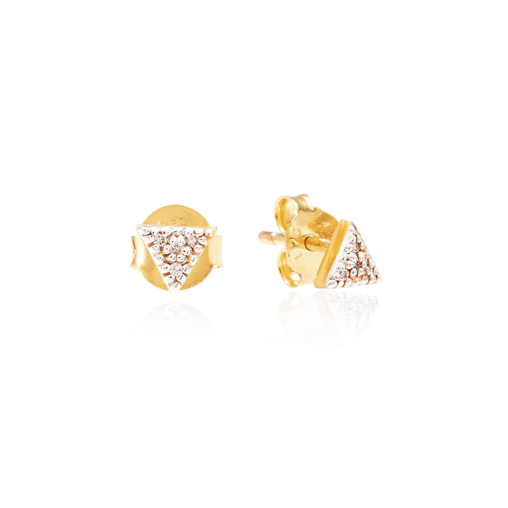 Triangle Diamond Pave Studs