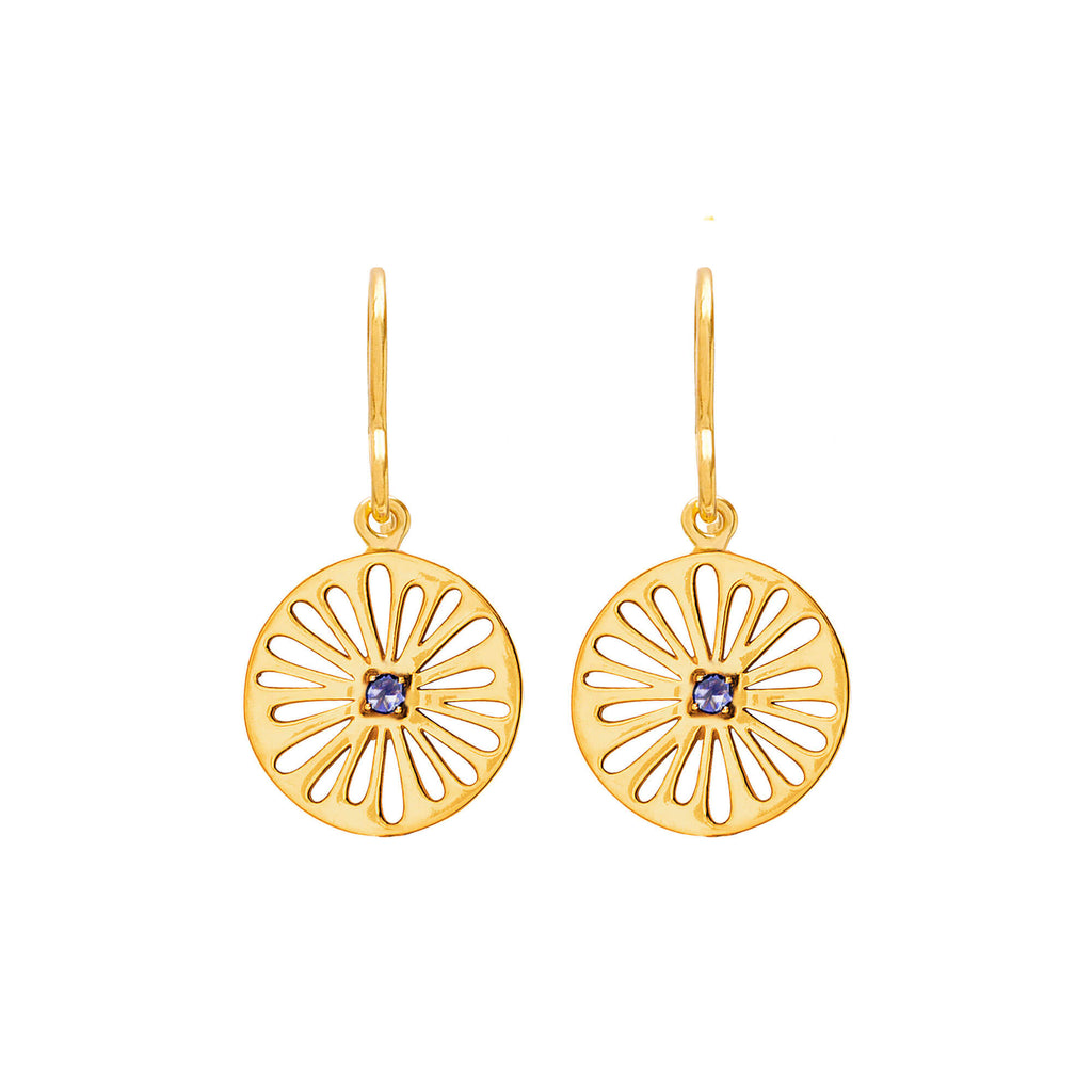 Supernova Iolite Earrings