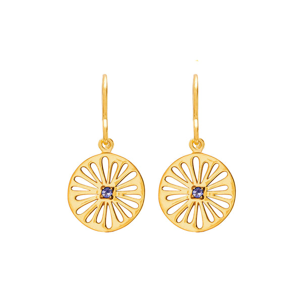 Supernova Iolite Earrings - Auren Jewellery