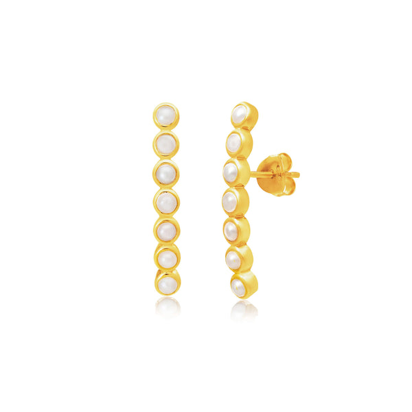 Sequence Pearl Bar Ear Crawler - Auren Jewellery