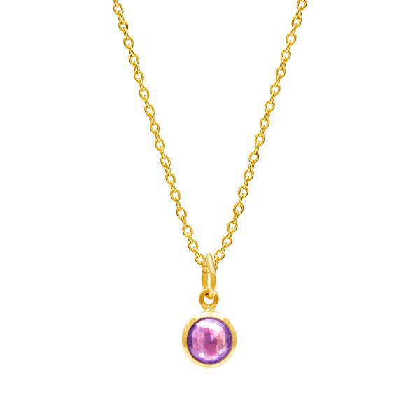 Amethyst February Birthstone Necklace - Auren Jewellery
