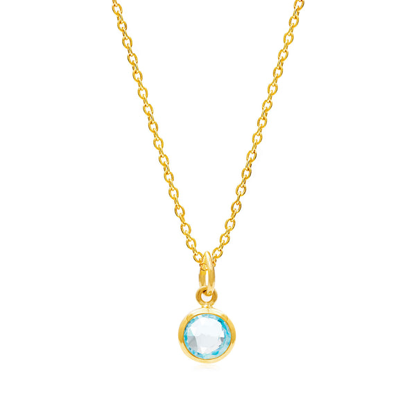 Blue Topaz March Birthstone Necklace - Auren Jewellery