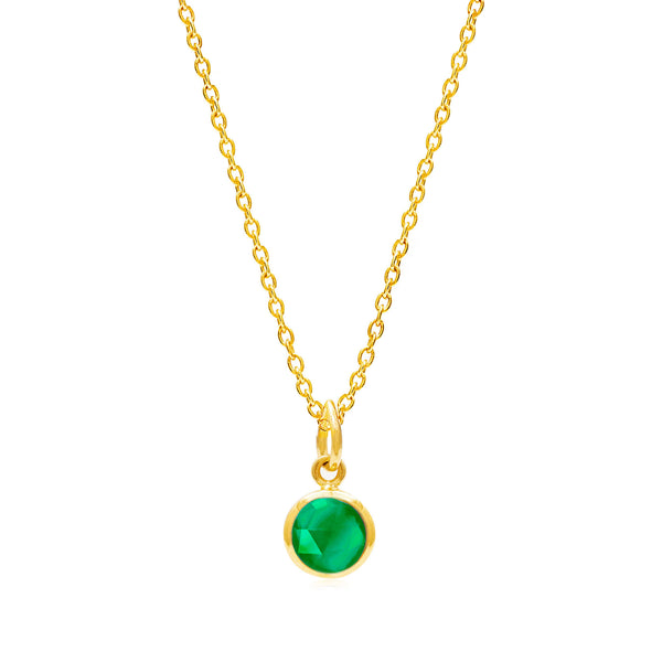 Emerald Quartz May Birthstone Necklace - Auren Jewellery