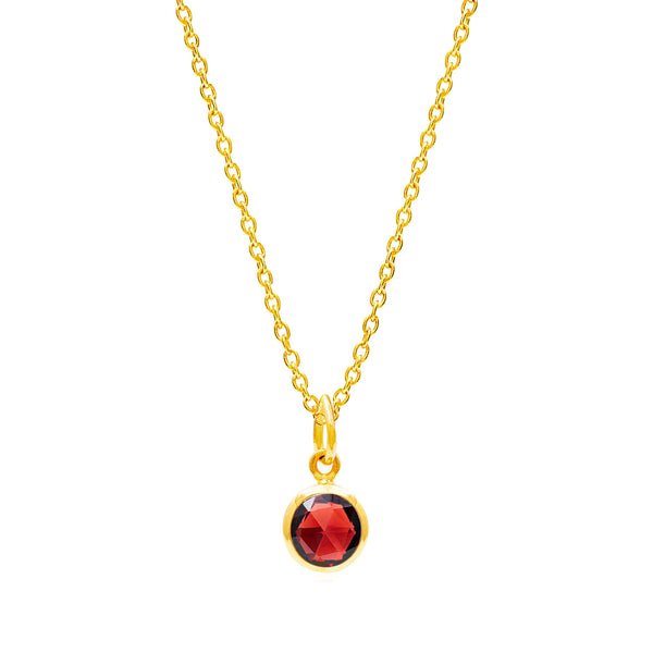 Garnet January Birthstone Necklace - Auren Jewellery