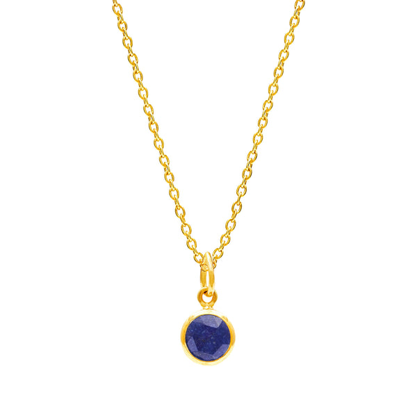 Lapis Lazuli September Birthstone Necklace - Auren Jewellery