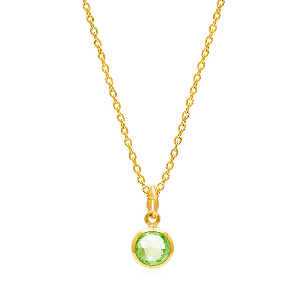 Peridot August Birthstone Necklace - Auren Jewellery