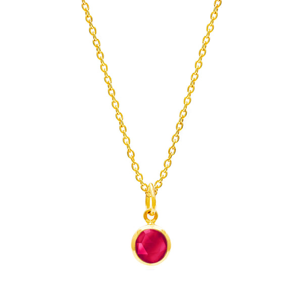 Ruby Quartz July Birthstone Necklace - Auren Jewellery
