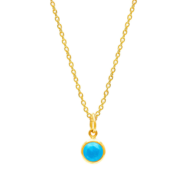 Turquoise December Birthstone Necklace - Auren Jewellery