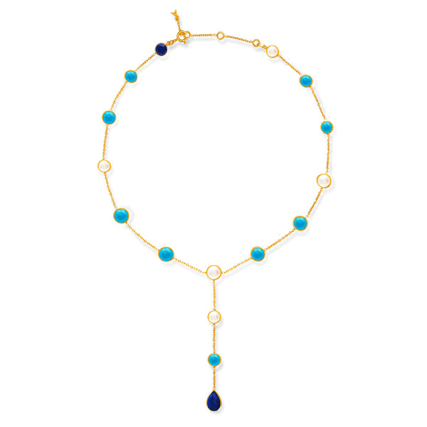 Gemstone Lariat Collar - Auren Jewellery