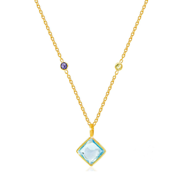 Paradigm Blue Topaz Necklace - Auren Jewellery