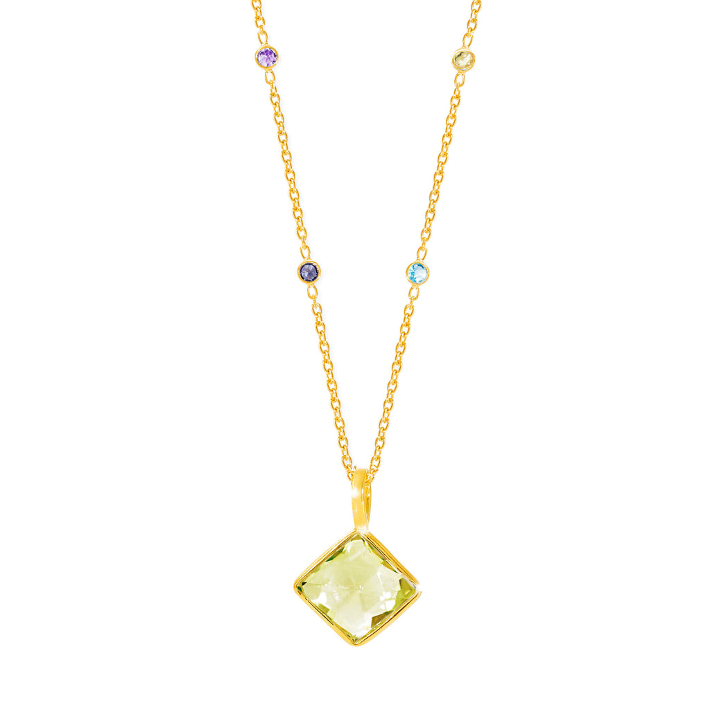 Paradigm Lemon Topaz Long Necklace - Auren Jewellery