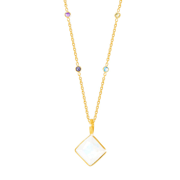 Paradigm Moonstone Long Necklace - Auren Jewellery