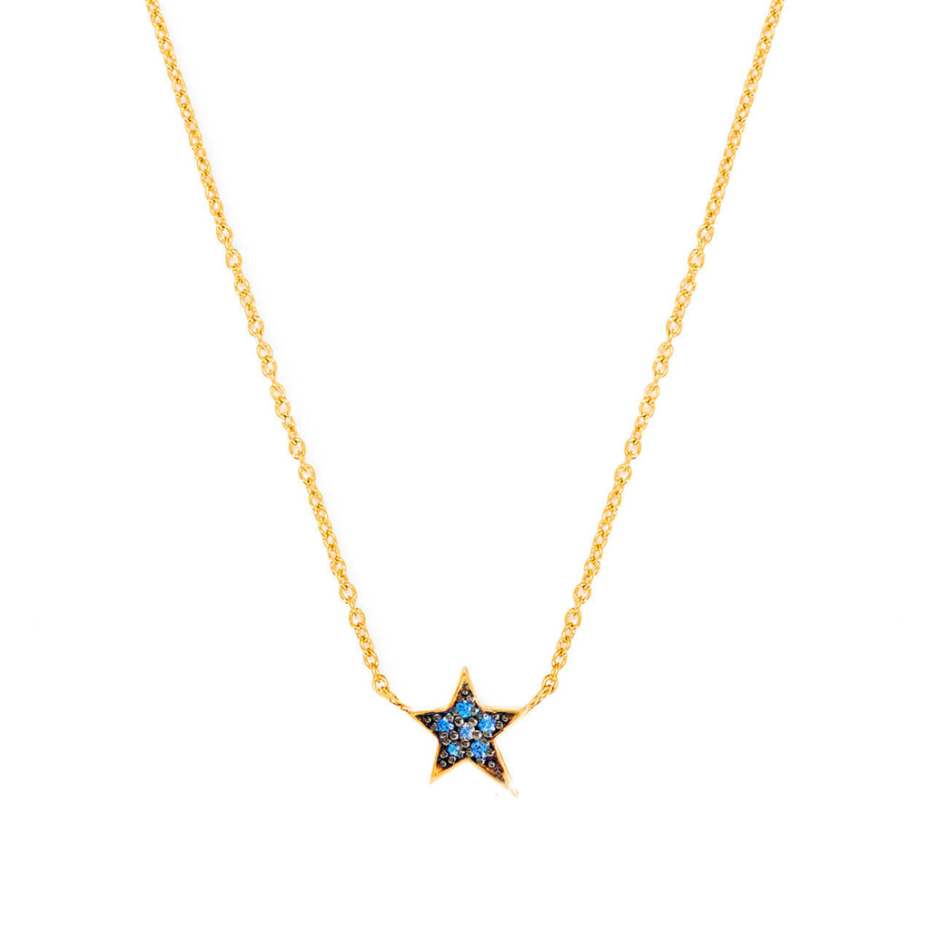 Sapphire Star Necklace