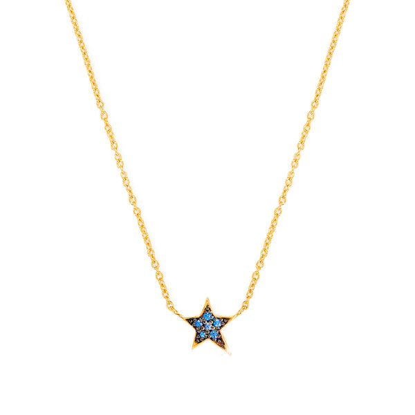 Star Gemstone Charm Necklace - Auren Jewellery