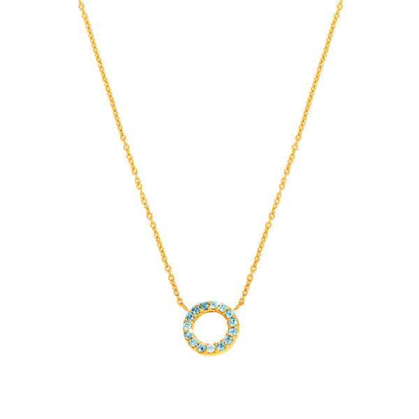 Nimbus Blue Topaz Necklace - Auren Jewellery
