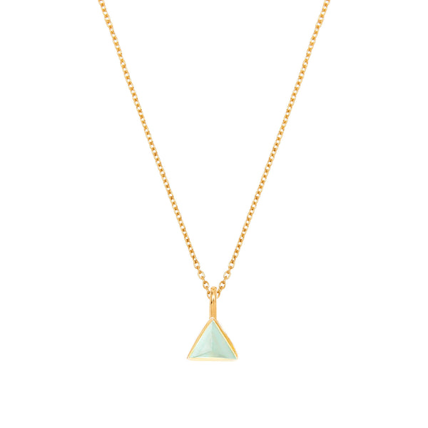 Trillion Aqua Necklace - Auren Jewellery