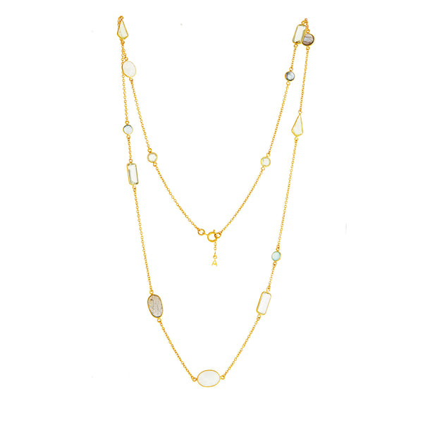 Rivoli Long Gemstone Necklace - Auren Jewellery