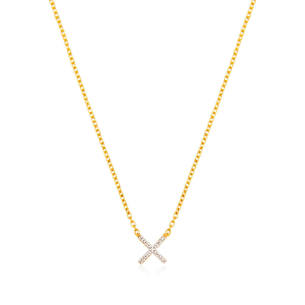 Kiss Diamond Pave Necklace - Auren Jewellery