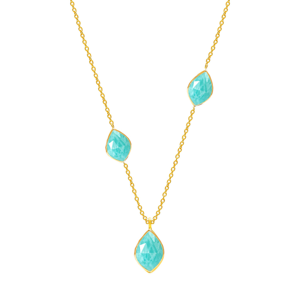 Electric Skies Amazonite Necklace