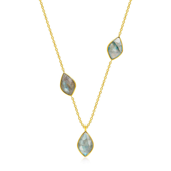 Electric Skies Labradorite Necklace - Auren Jewellery