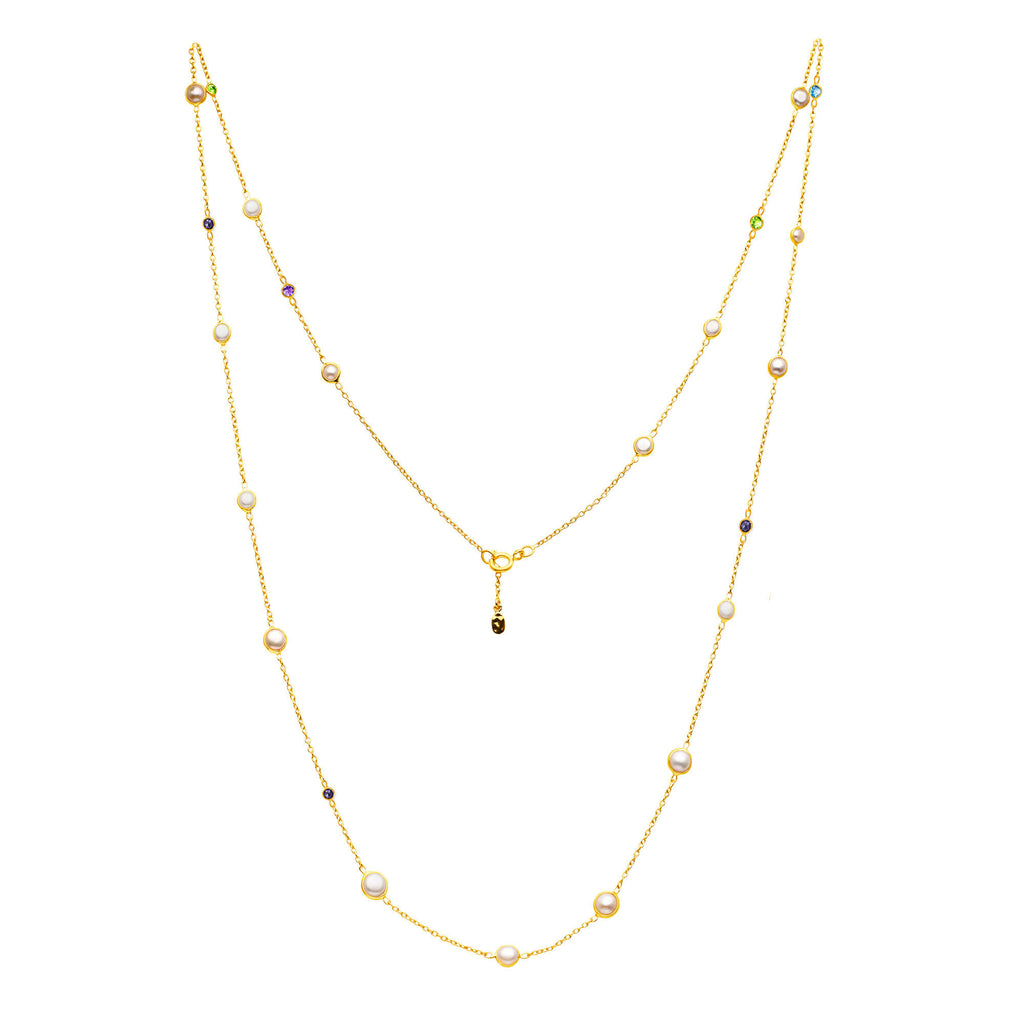 "Sequence Pearl 36""  Long Necklace"