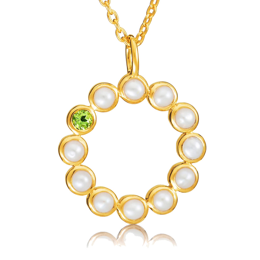 "Sequence Pearl 18"" Gemstone Necklace - Auren Jewellery"