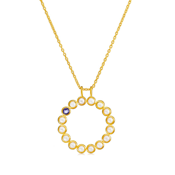 Sequence Pearl Large Pendant Necklace - Auren Jewellery