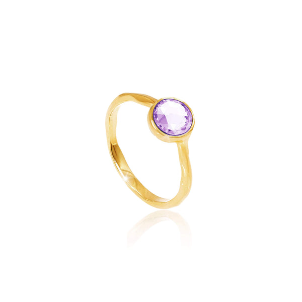 Amethyst February Birthstone Ring - Auren Jewellery