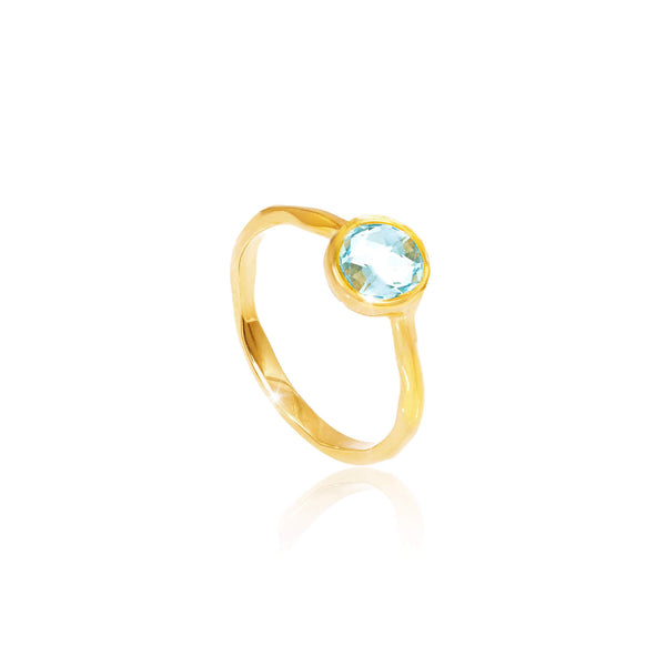 Blue Topaz March Birthstone Ring - Auren Jewellery