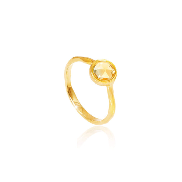 Citrene November Birthstone Ring - Auren Jewellery