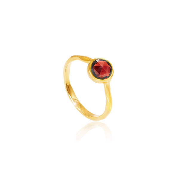 Garnet January Birthstone Ring - Auren Jewellery