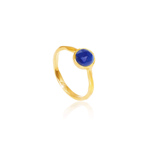 Lapis Lazuli September Birthstone Ring - Auren Jewellery