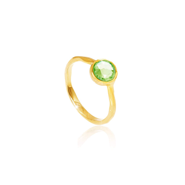 Peridot August Birthstone Ring - Auren Jewellery