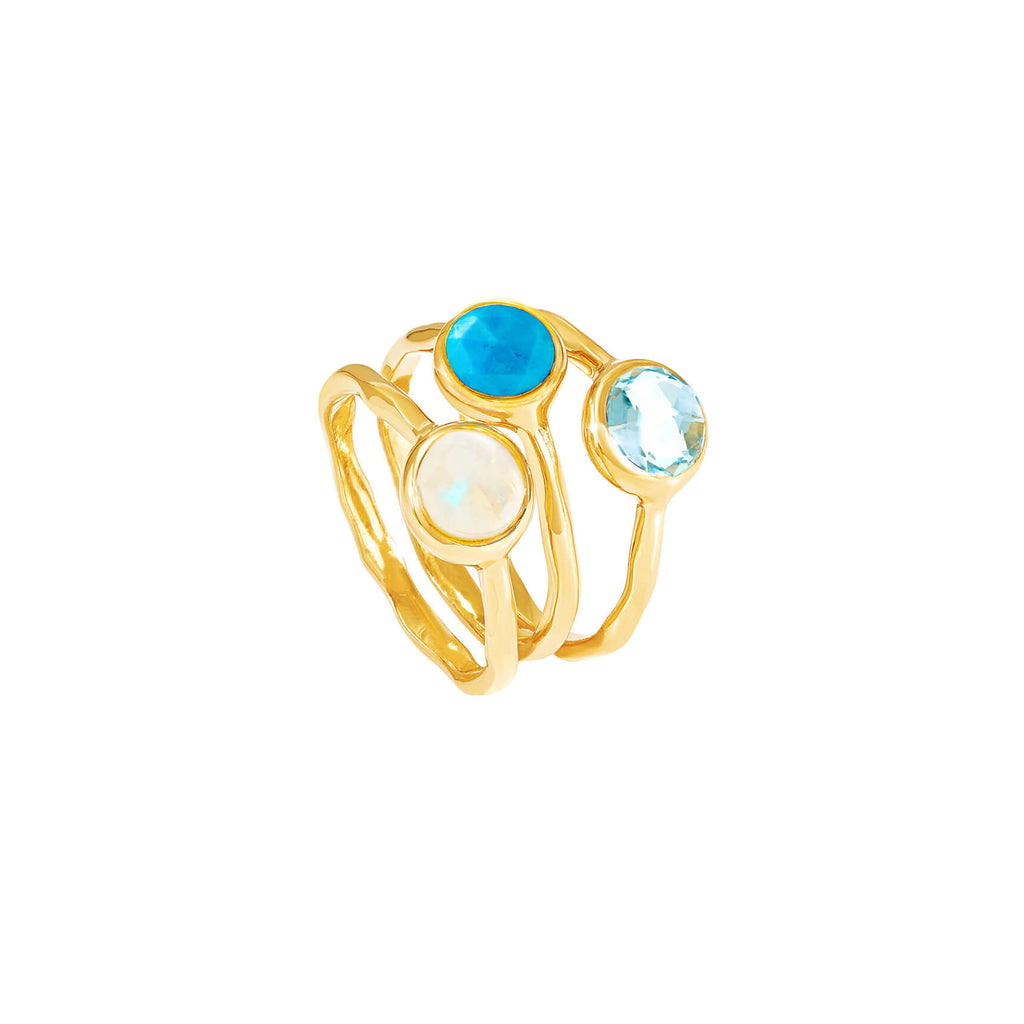 Moonstone October Birthstone Ring - Auren Jewellery