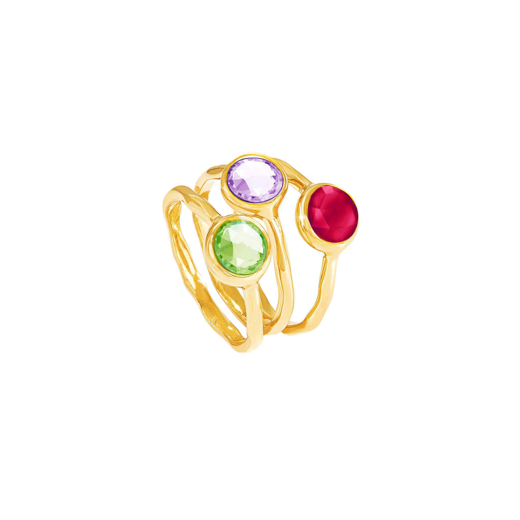 Ruby Quartz July Birthstone Ring - Auren Jewellery