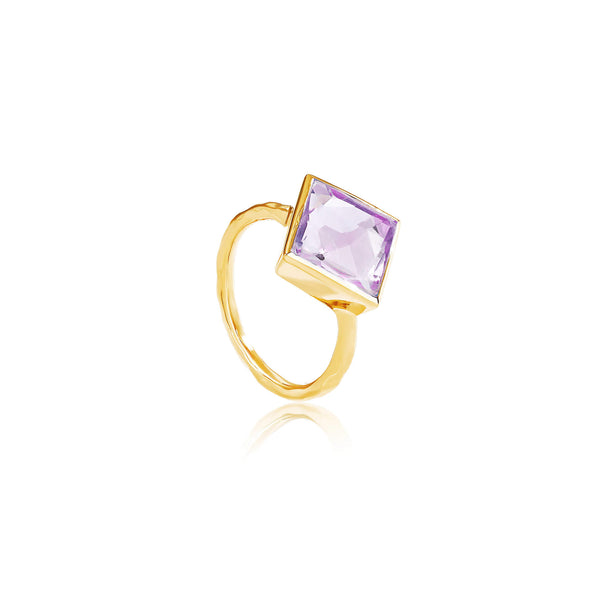 Paradigm Amethyst Cocktail Ring - Auren Jewellery