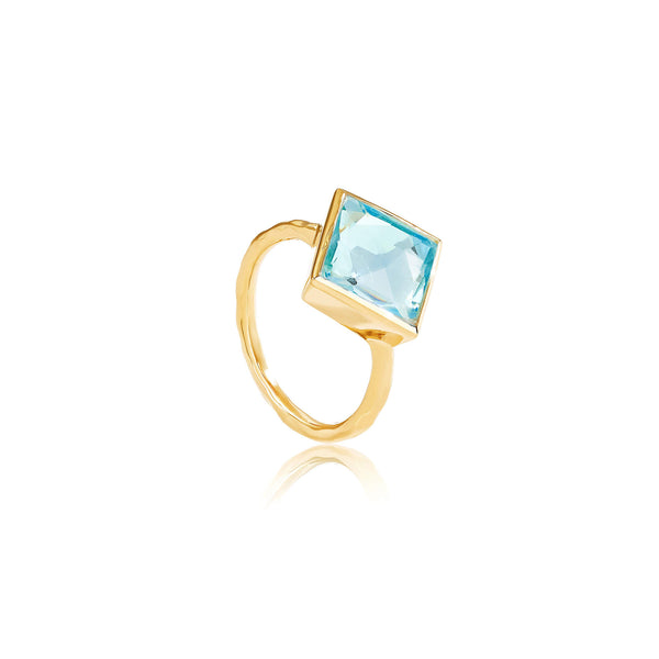 Paradigm Blue Topaz Cocktail Ring - Auren Jewellery