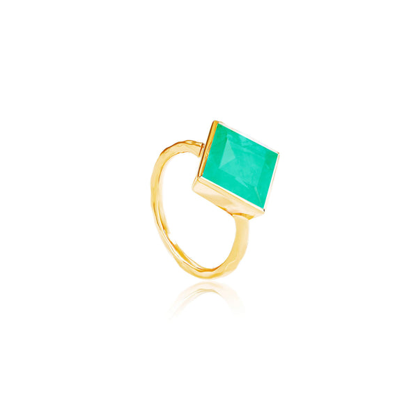 Paradigm Chrysoprase Cocktail Ring - Auren Jewellery