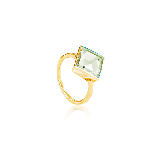 Paradigm Green Amethyst Cocktail Ring - Auren Jewellery