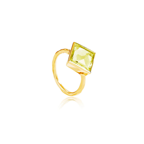 Paradigm Lemon Topaz Cocktail Ring - Auren Jewellery