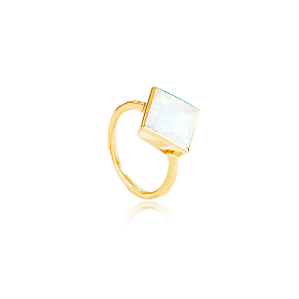 Paradigm Moonstone Cocktail Ring - Auren Jewellery