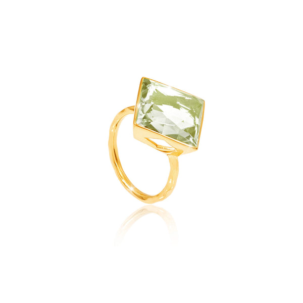 Paradigm Green Amethyst Large Cocktail Ring - Auren Jewellery